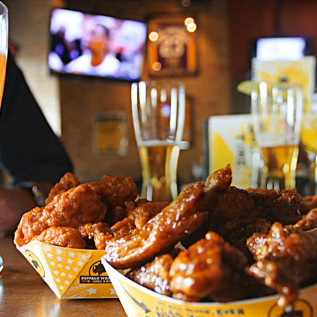 Buffalo Wild Wings   Mon - Fri | 3 - 6 PM Mon - Fri |11 PM - Close Sat - Sun| 11 PM - Close   Learn More