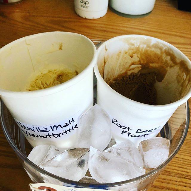 90 degrees in manzanita! drastic measures being taken in the back room! thanks Buttercup ice cream! #vanillamaltwithpeanutbrittle #rootbeerfloat #itshot #summeraintover #manzanitabeach #finnesterre