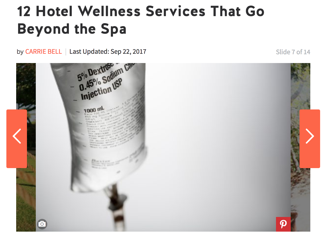Click to read more about how our mobile services are being used as a wellness treatment, even by hotel guests.