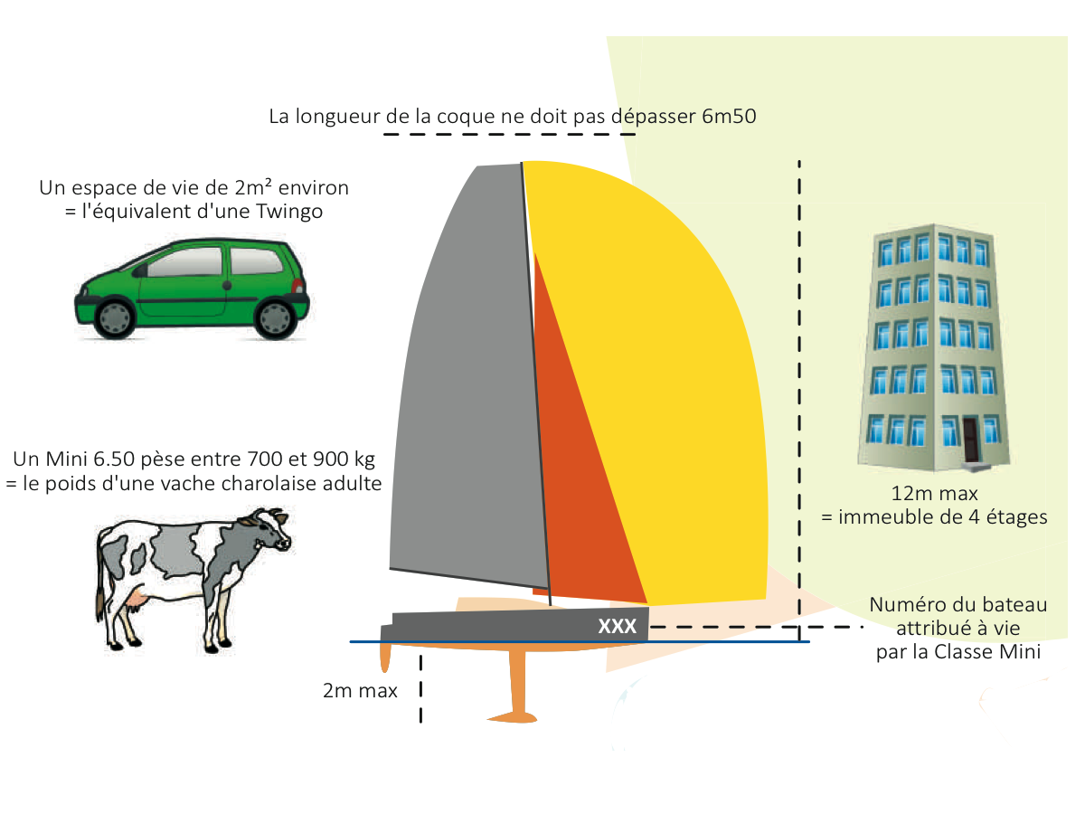 Infographie Mini 6.50 (source: Classe Mini)