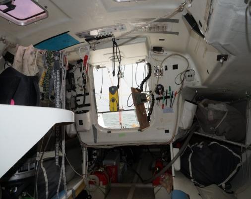 Espace intérieur : tout se qui n'est pas directement lié à la navigation a été supprimé