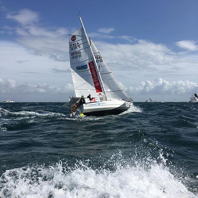 Mini bateau maxi sensation @minitransatlaboulangere #larochelle #mini650 #minitransat650