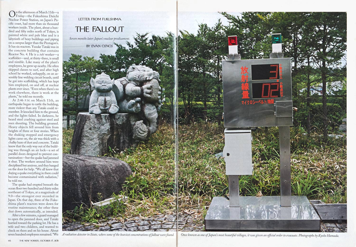 Letter from Fukushima/The Fall Out - New Yorker