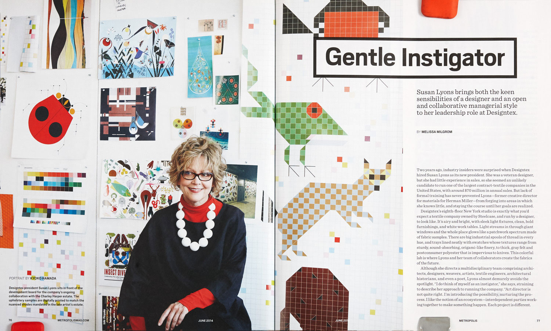 Susan Lyons/Gentle Instigator - Metropolis Magazine