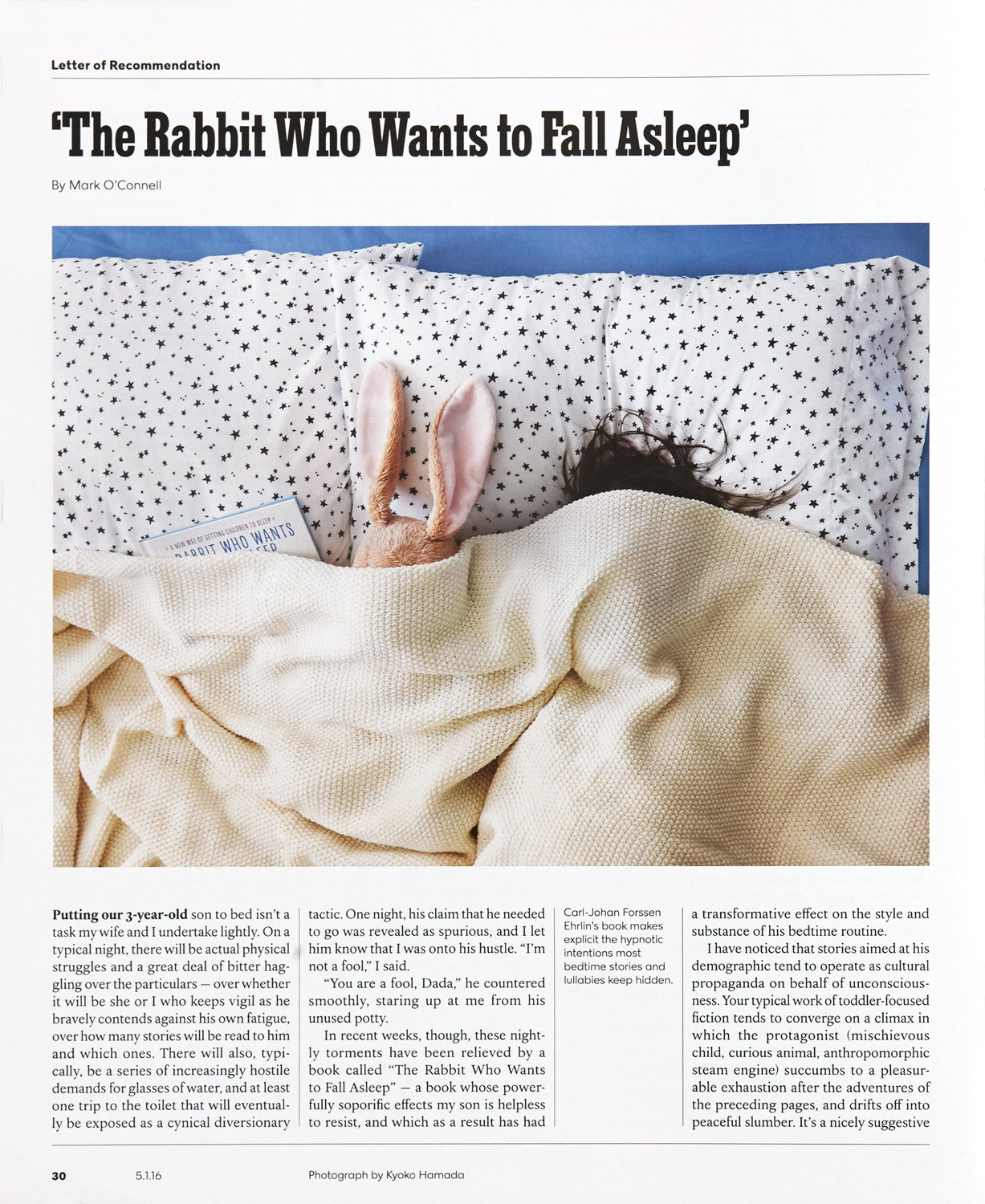 The Rabbit Who Wants to Fall Asleep -  The New York Times Magazine