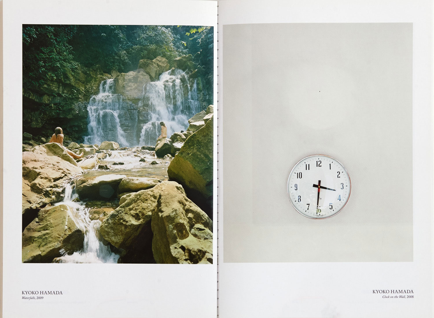 Waterfalls (left) Clock on the Wall (right) - Water Stone Review