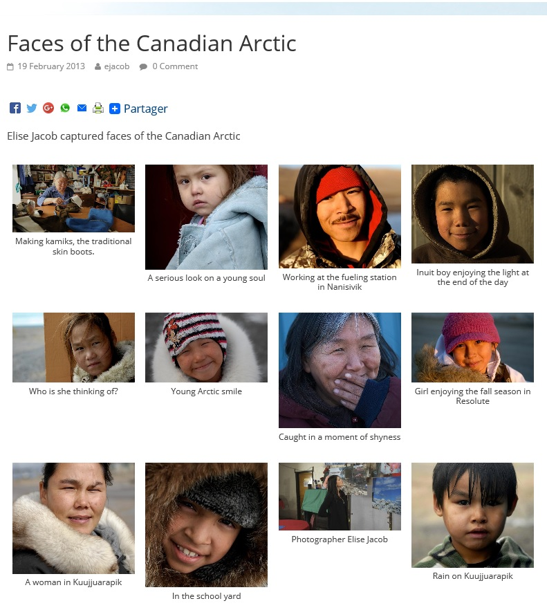 CBC.CA: Faces Of The Canadian Arctic