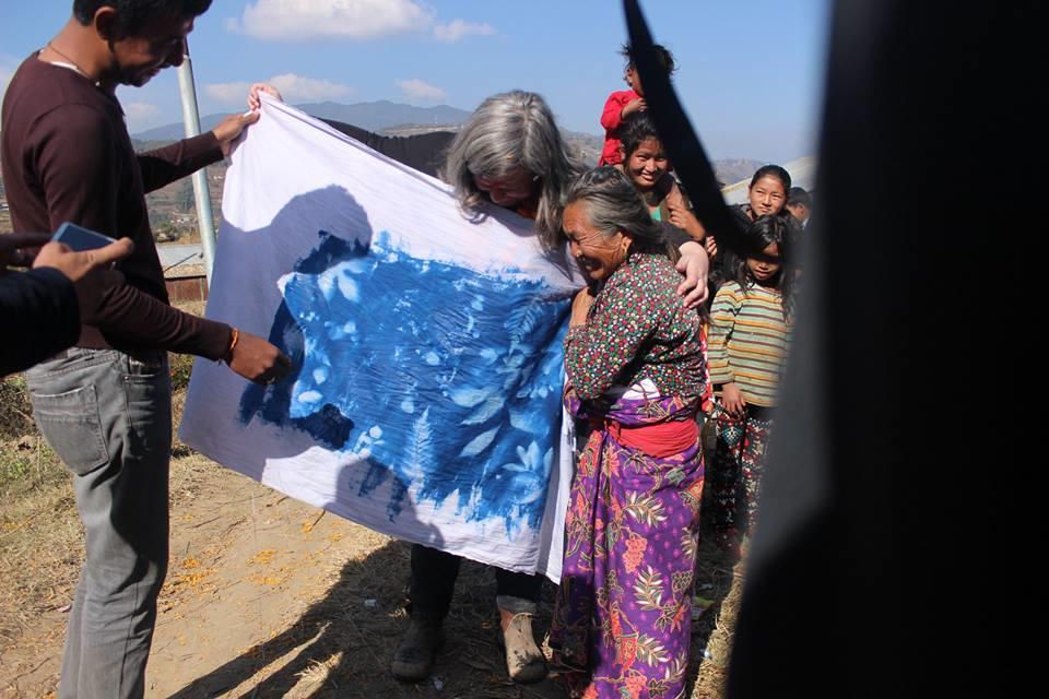 Nepal_Village_unveiling the cyanotype_by Jess.jpg