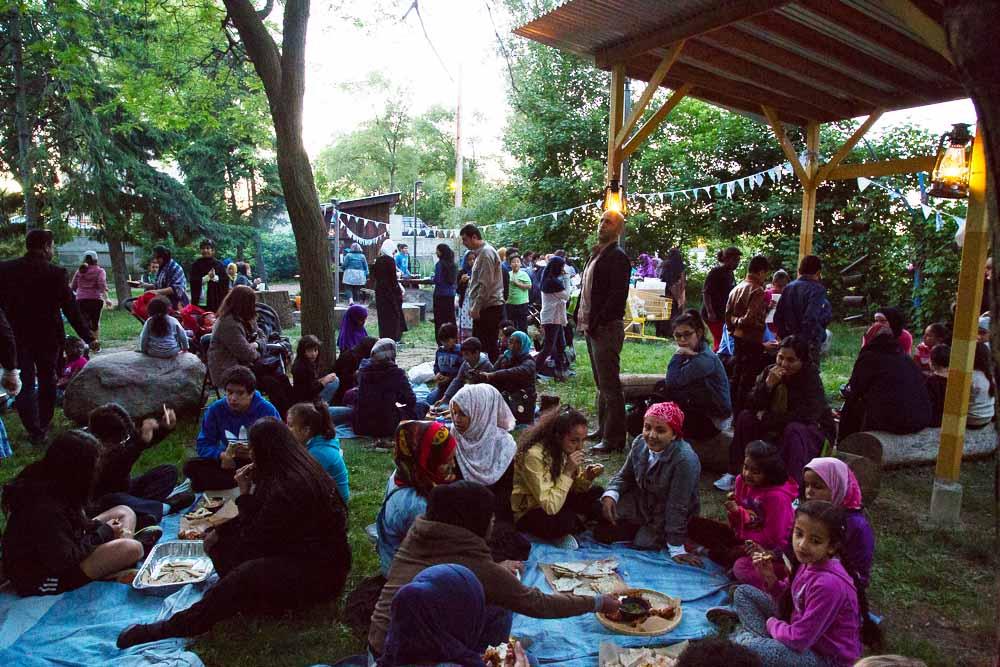 Eating together at Inter-Cultural Iftar Nights