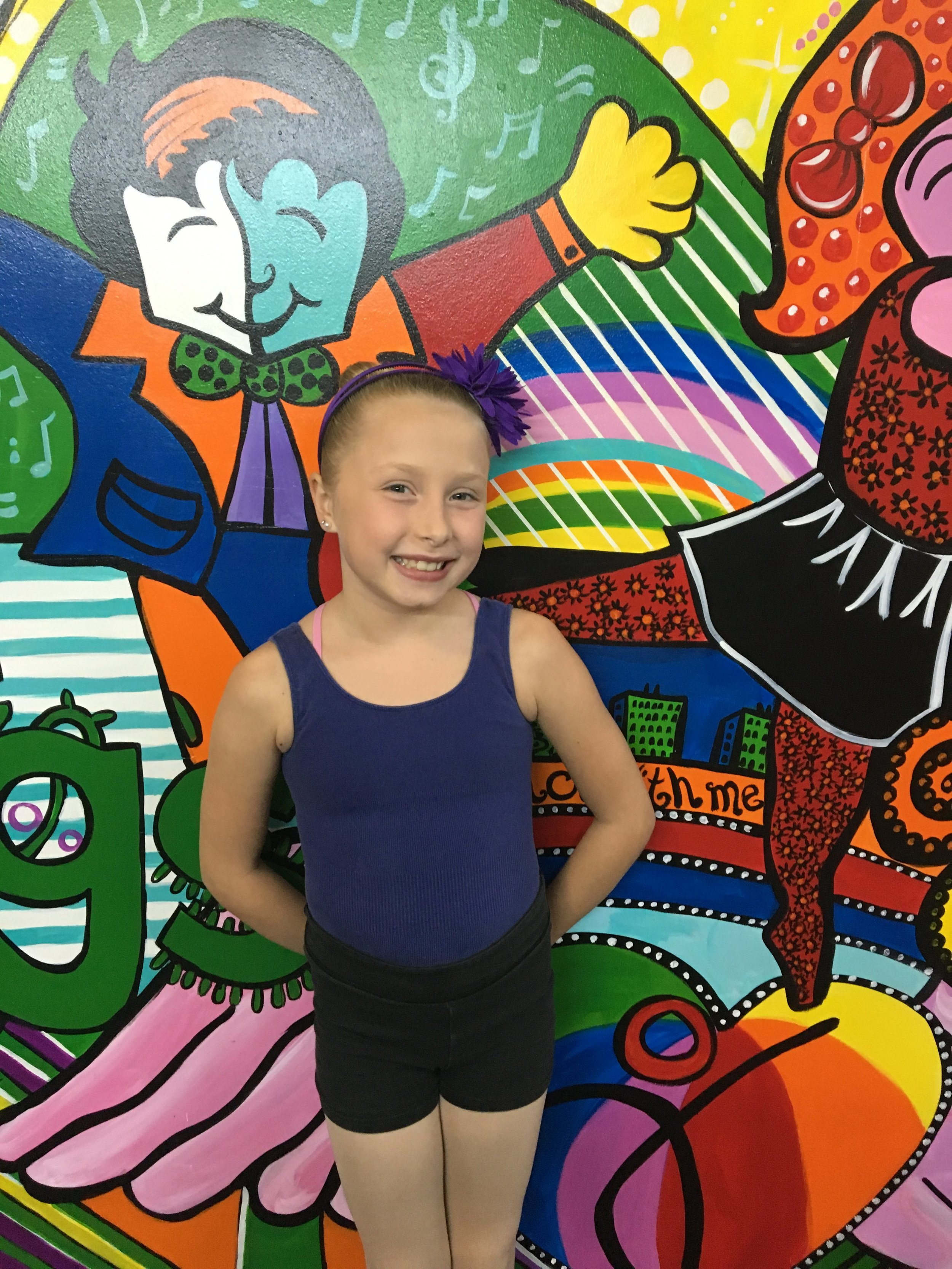 5 Year Award Winner: Abigail Proske   Abigail Proske's favorite dance style is ballet and she loves to dance because it is fun and challenges her. Her role model is Ms.Kerrie. When she grows up she wants be a dance teacher. In her spare time she likes to make up her own dance moves. She loves dancing at Forevermore because we have many different things to do here and have great teachers.