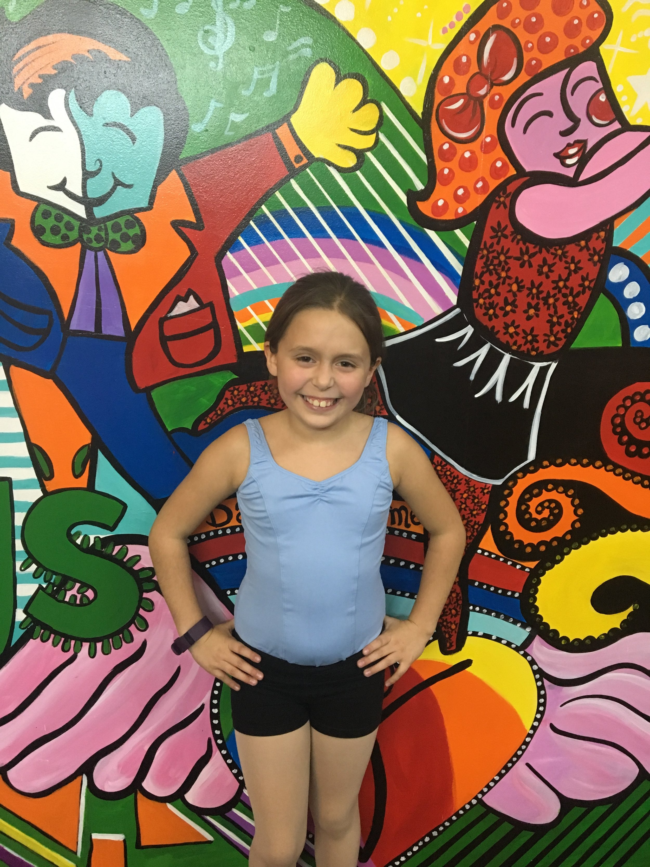 5 Year Award Winner: Olivia Segura   Olivia Segura loves to dance tap because it's fun. Her favorite subject in school is science and she wants to be a doctor when she grow up. She loves dancing at Forevermore because the teachers are amazing. Her role model is her mom and a fun fact about Olivia is she can do a double flip in the water.