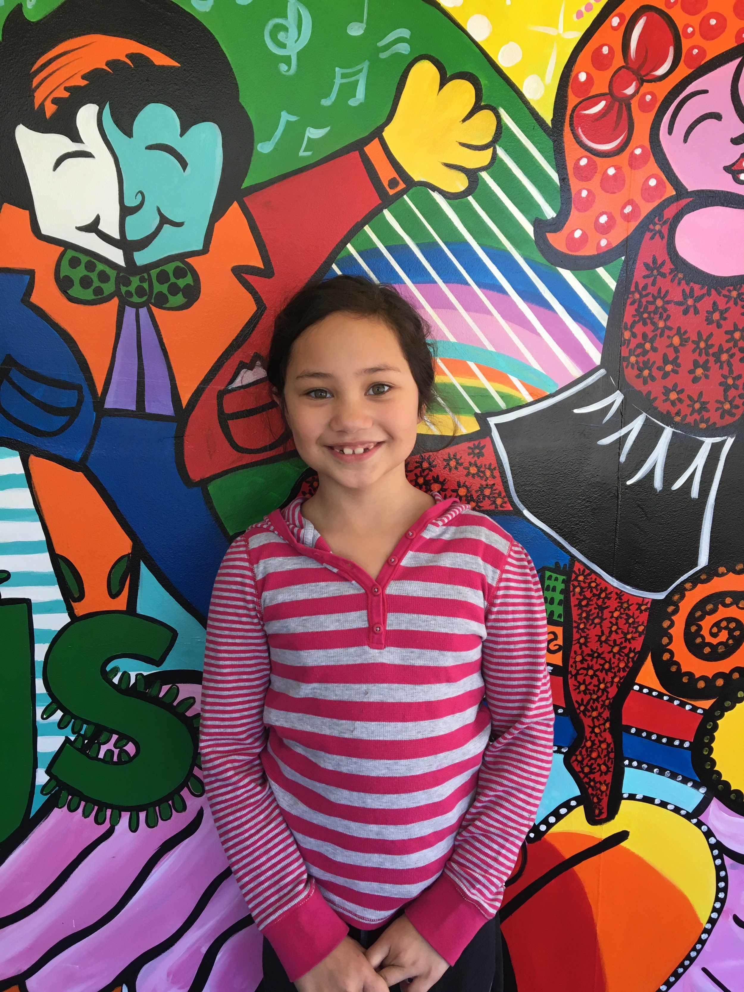 Erica Alverio loves to dance ballet because it gives her more energy. When she grows up she wants to be a dance teacher. She loves art and the color black. Her fun fact is her name is Noelle because she was born around Christmas time.
