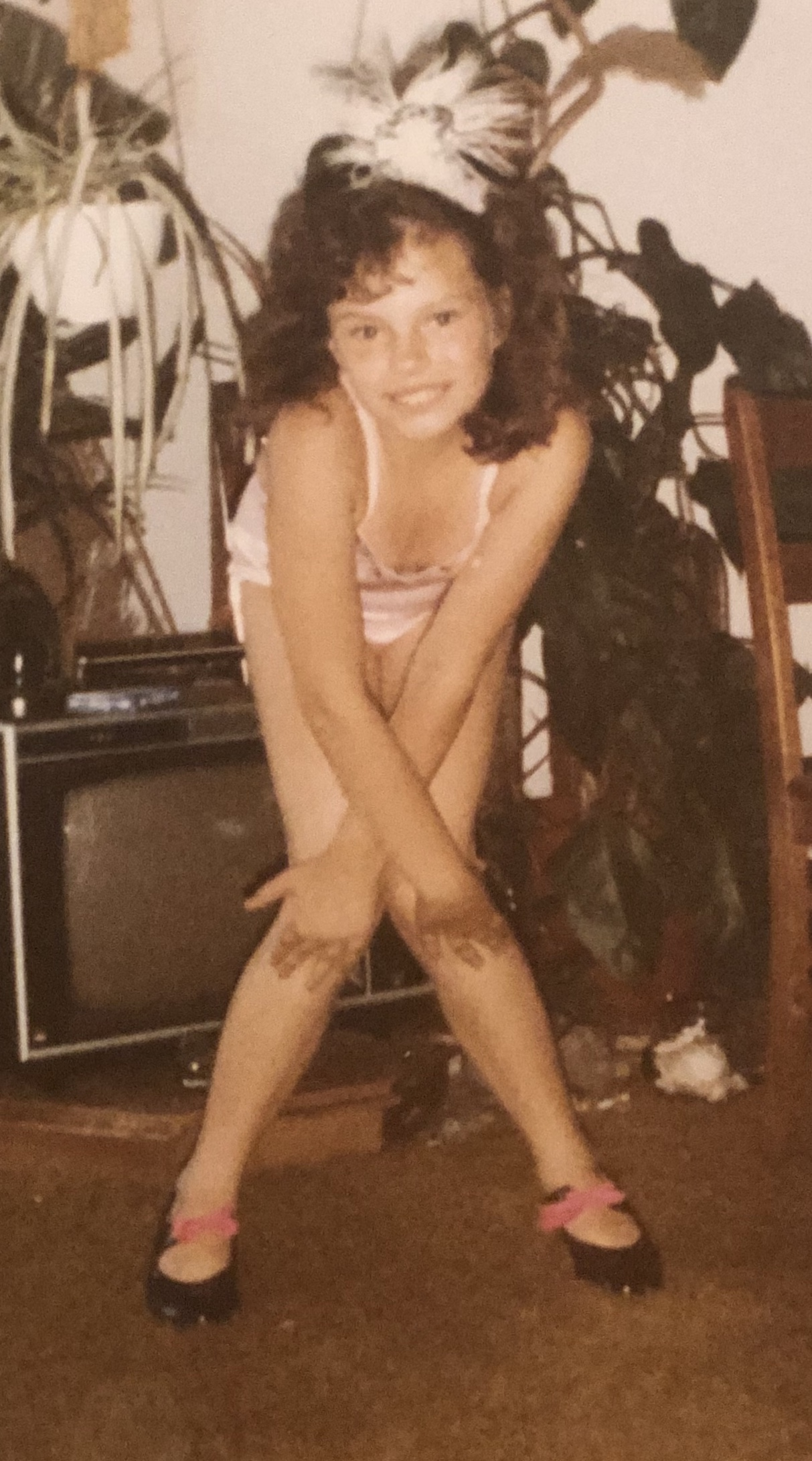 """Ms. Kerrie at 9 years old getting """"recital ready""""!"""