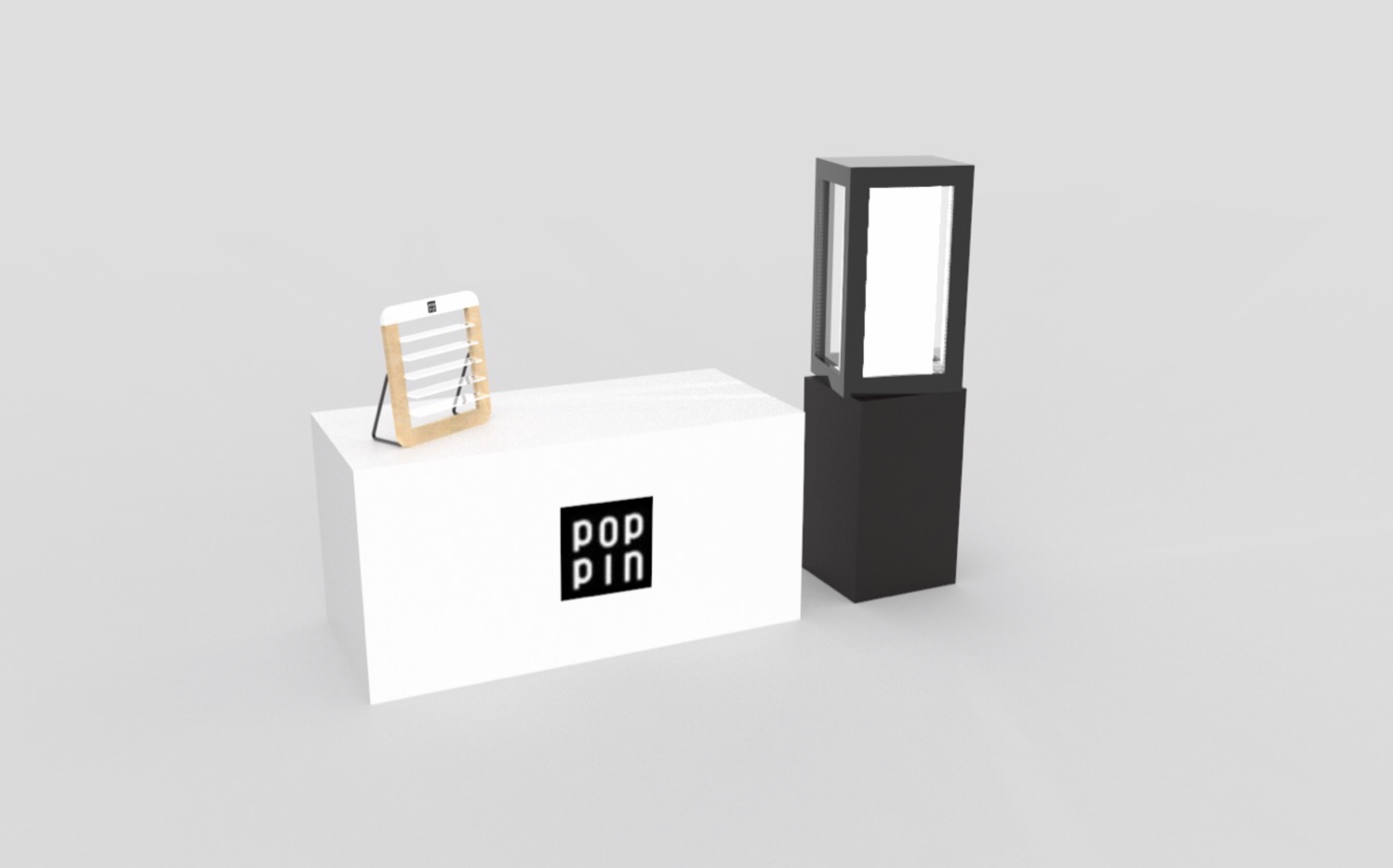 KEYSHOT RENDERING OF EVENT BOOTH — DESIGNED AND RENDERED BY DINO LAUANDO