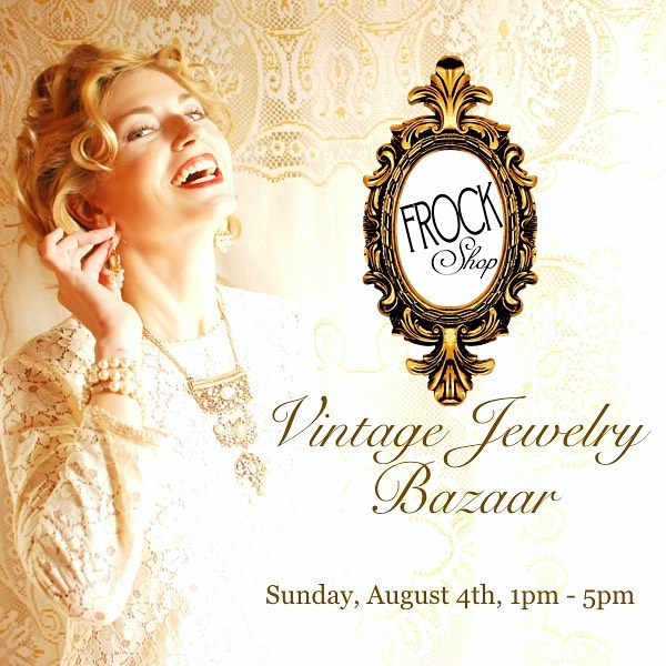 Mark your calendars ladies! Sunday, August 4th we are presenting a killer selection of (at this point in history) probably one of a kind vintage baubles and accessories. Drop in for a refreshing look at the beautiful costume jewelry from decades past. $5 - $300. Here's a tiny #sneakpeek of a few bits of the hundreds we are preparing #baublerevival #cheerstothepast #baubledrop #vintagemagic #cltvintage #frockrevival