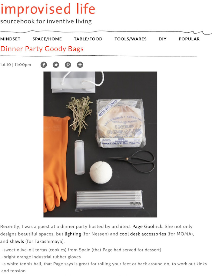 <html>Improvised Life<p>Page Goolrick Dinner Party Bags</html>