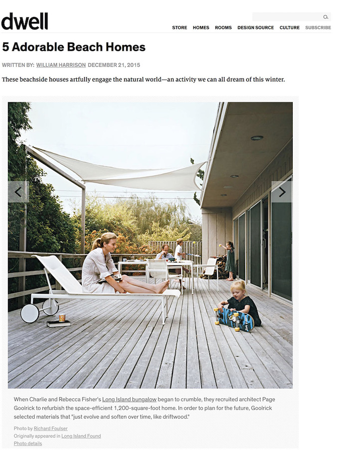 <html>Dwell<p>5 Adorable Beach Homes</html>