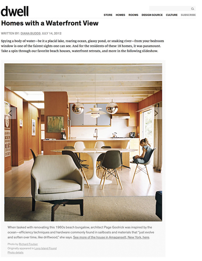 <html>Dwell<p>Homes with a Waterfront View</html>