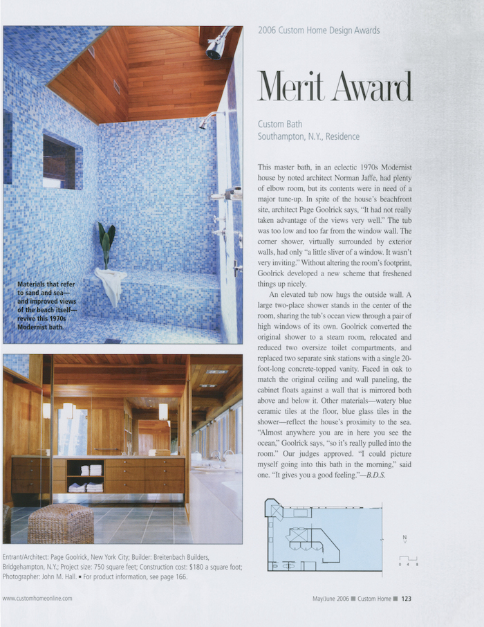 <html>Custom Home<p>Merit Award Custom Bath</html>
