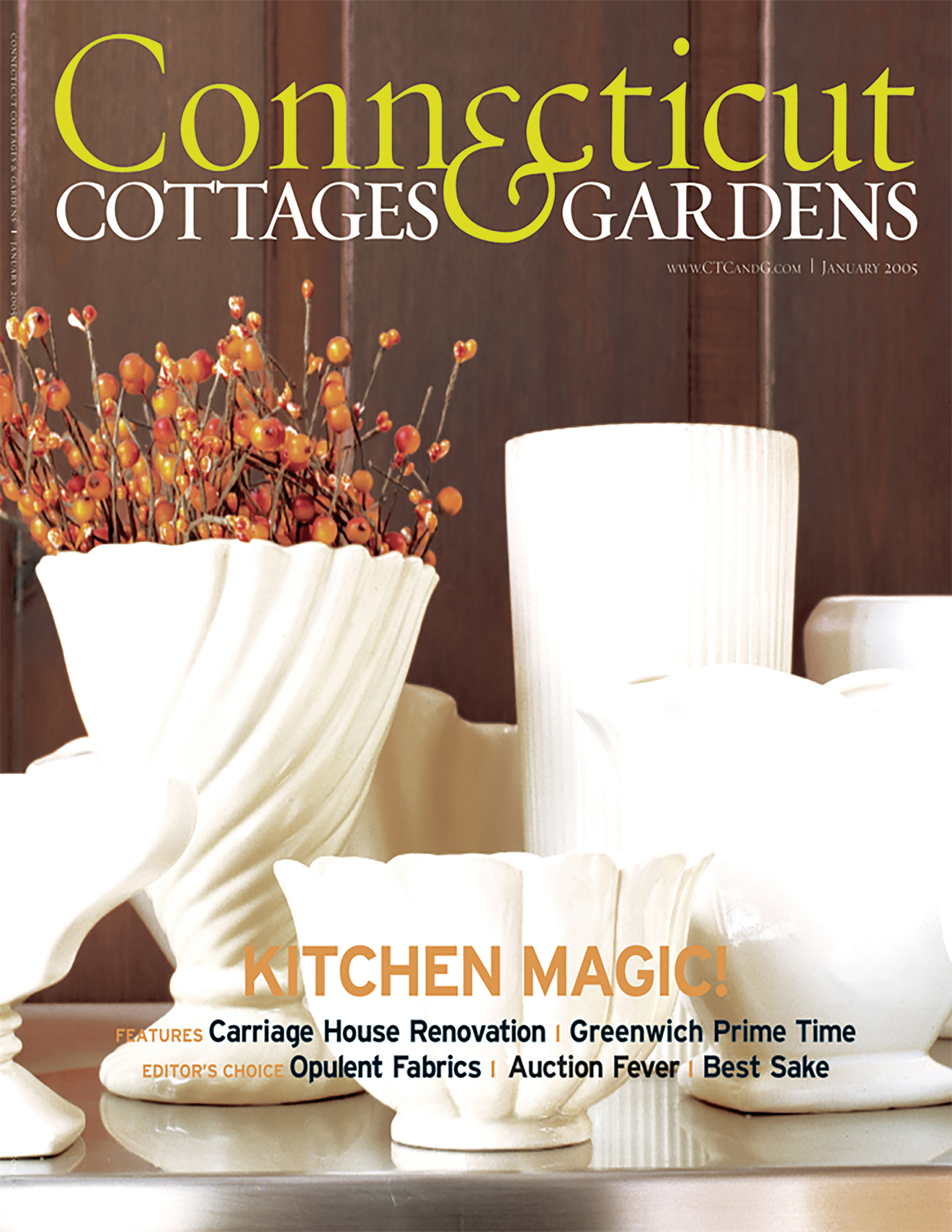 <html>Connecticut Cottages & Gardens<p>A Harmony of Styles</html>
