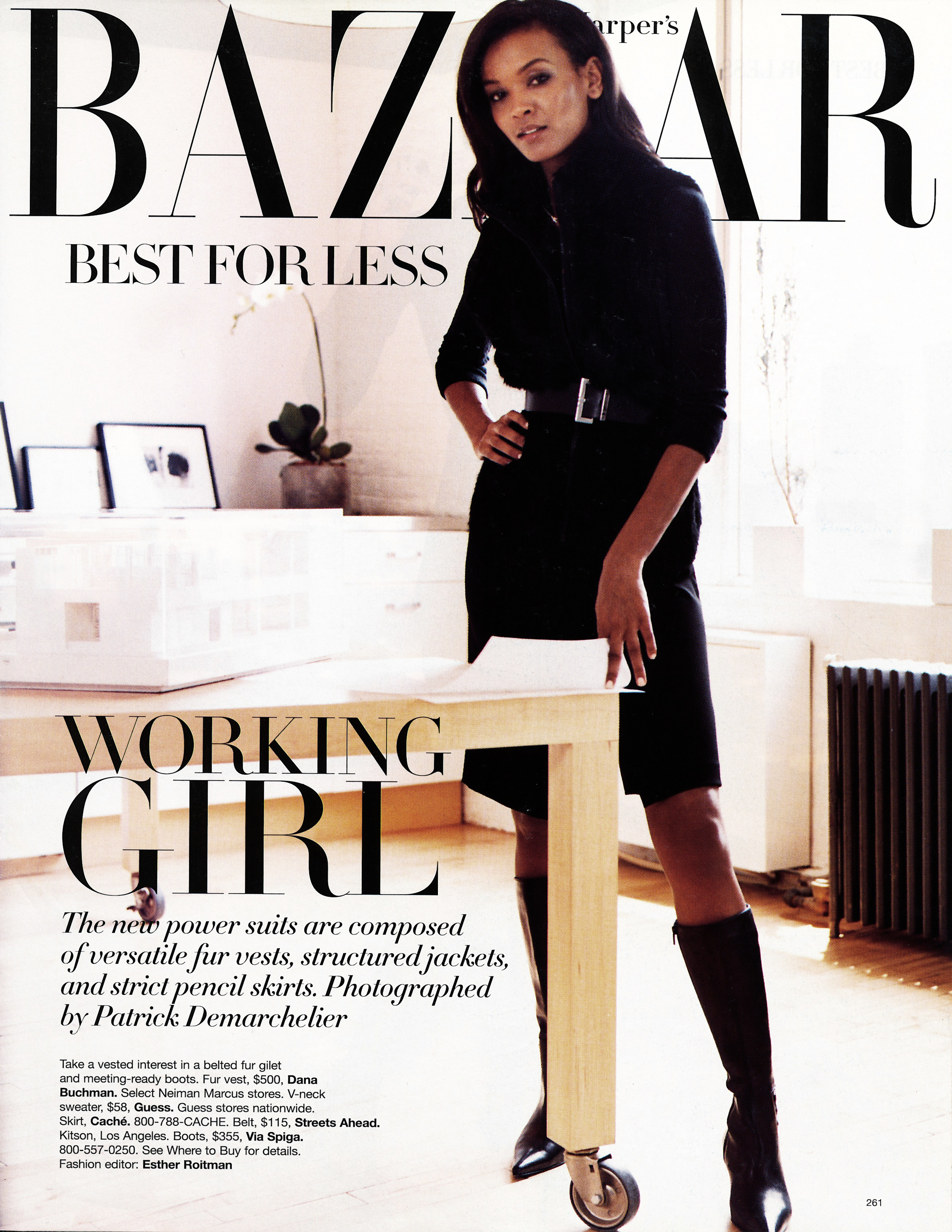 <html>Bazaar<p>PGA loft photo shoot</html>