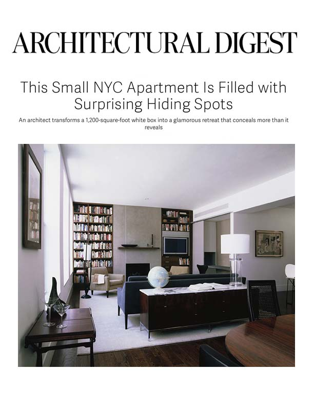 <html>Architectural Digest<p>From White Box to Glamorous Retreat</html>