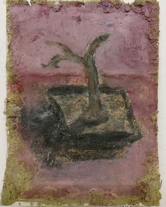 Abandoned Tree no.2 #painting #stilllife #tree #hornimanmuseum #paper #oilpainting