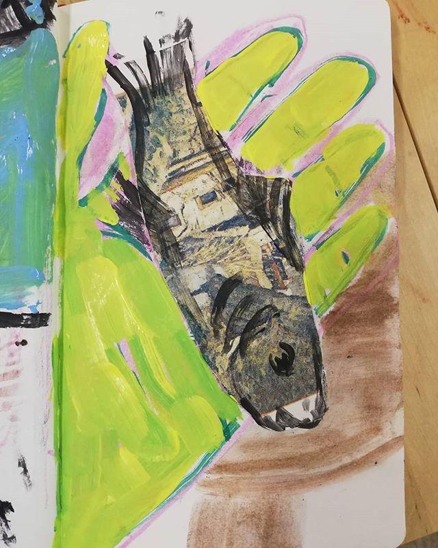 Palm reading #sketchbook #painting #studio #clairvoyant #fish #palmreading