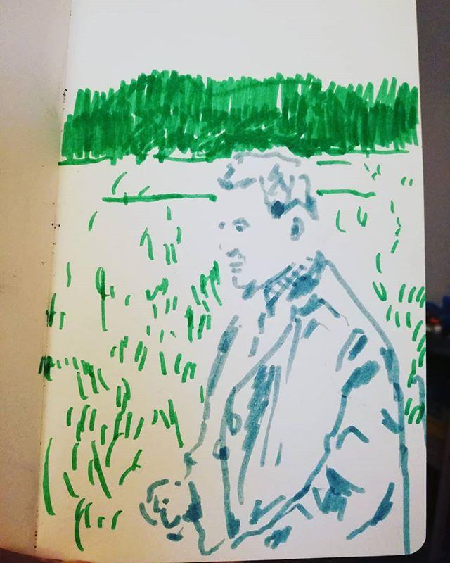 A man in an unforgettable landscape #drawing #landscape #sketchbook