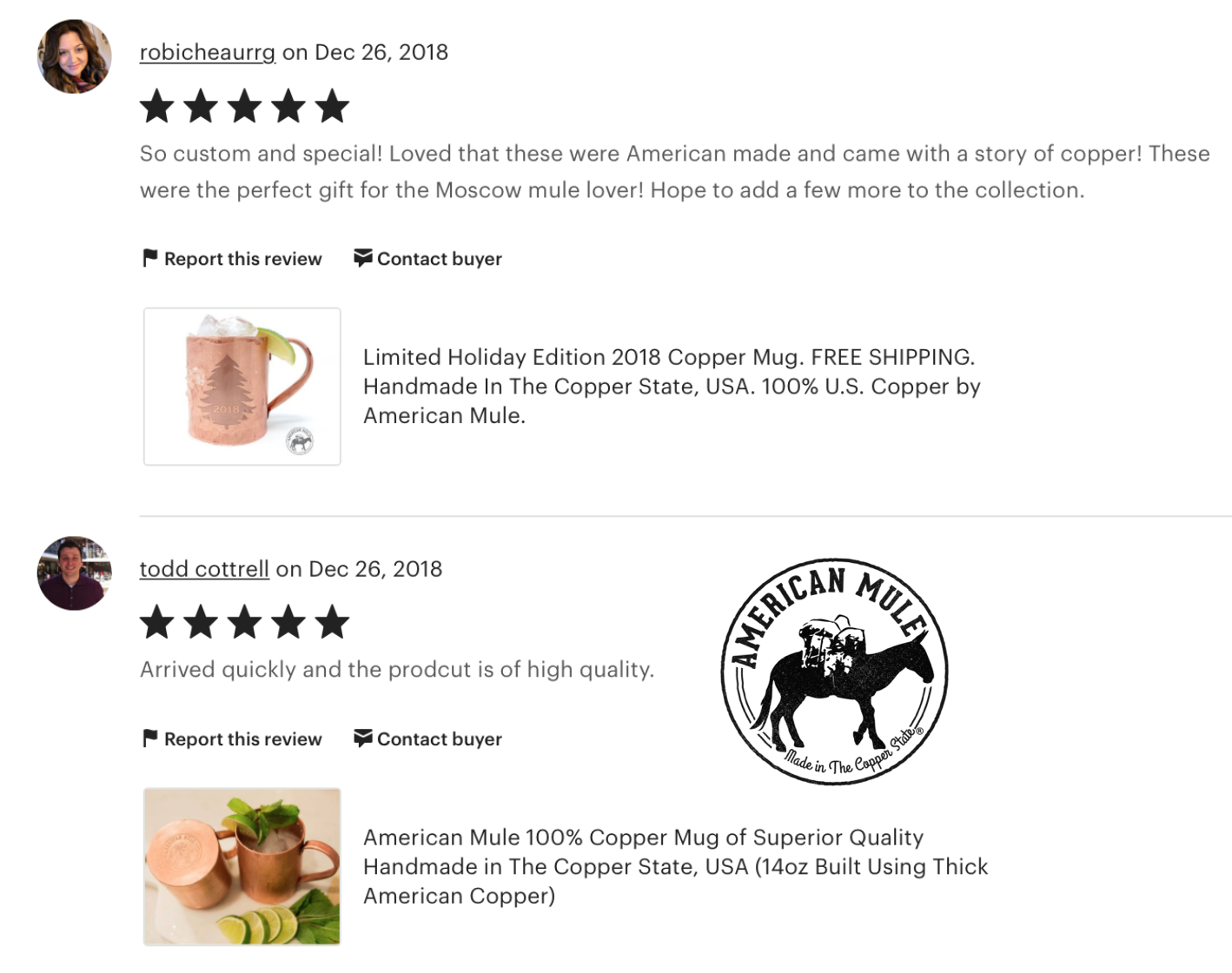 AmericanMule5StarReviews