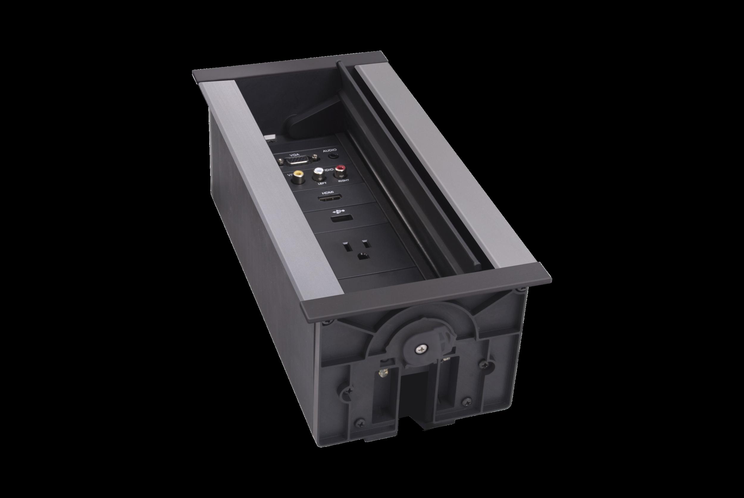 AMX 9-Module Hydraport - In Table AV Box - Customisable