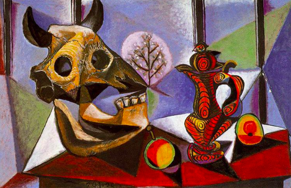 Picasso, Still Life with Bull Skull, 1936. (Completed last time Uranus was in Taurus)