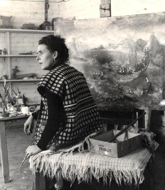 Carrington in her studio.