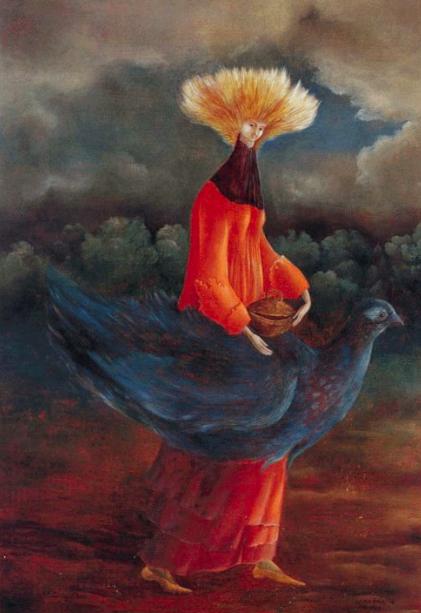 Leonora Carrington,  Portrait of the Late Ms Partridge , 1947.