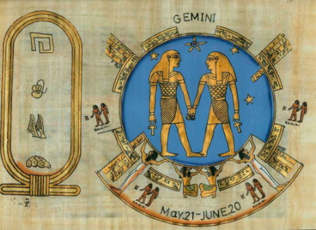 Ancient Egyptian depiction of the twins.