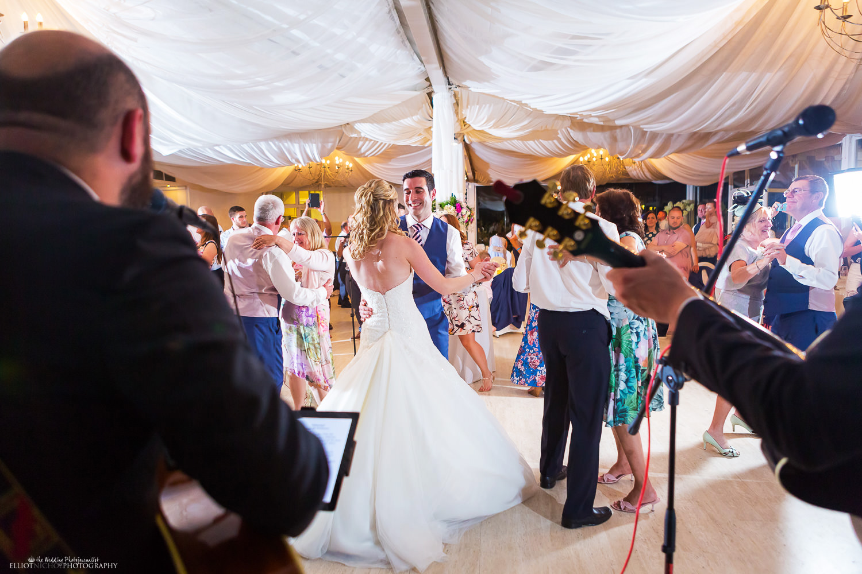 Dancing at Villa Arrigo at a wedding reception