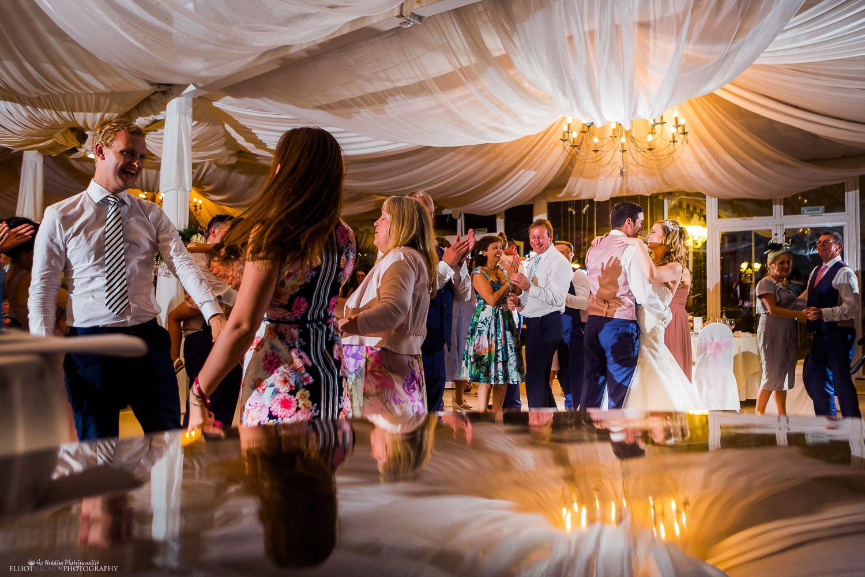 Dance floor at Villa Arrigo during a wedding reception, Naxxar, Malta
