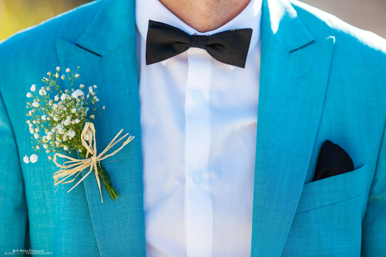 Groom suit detail