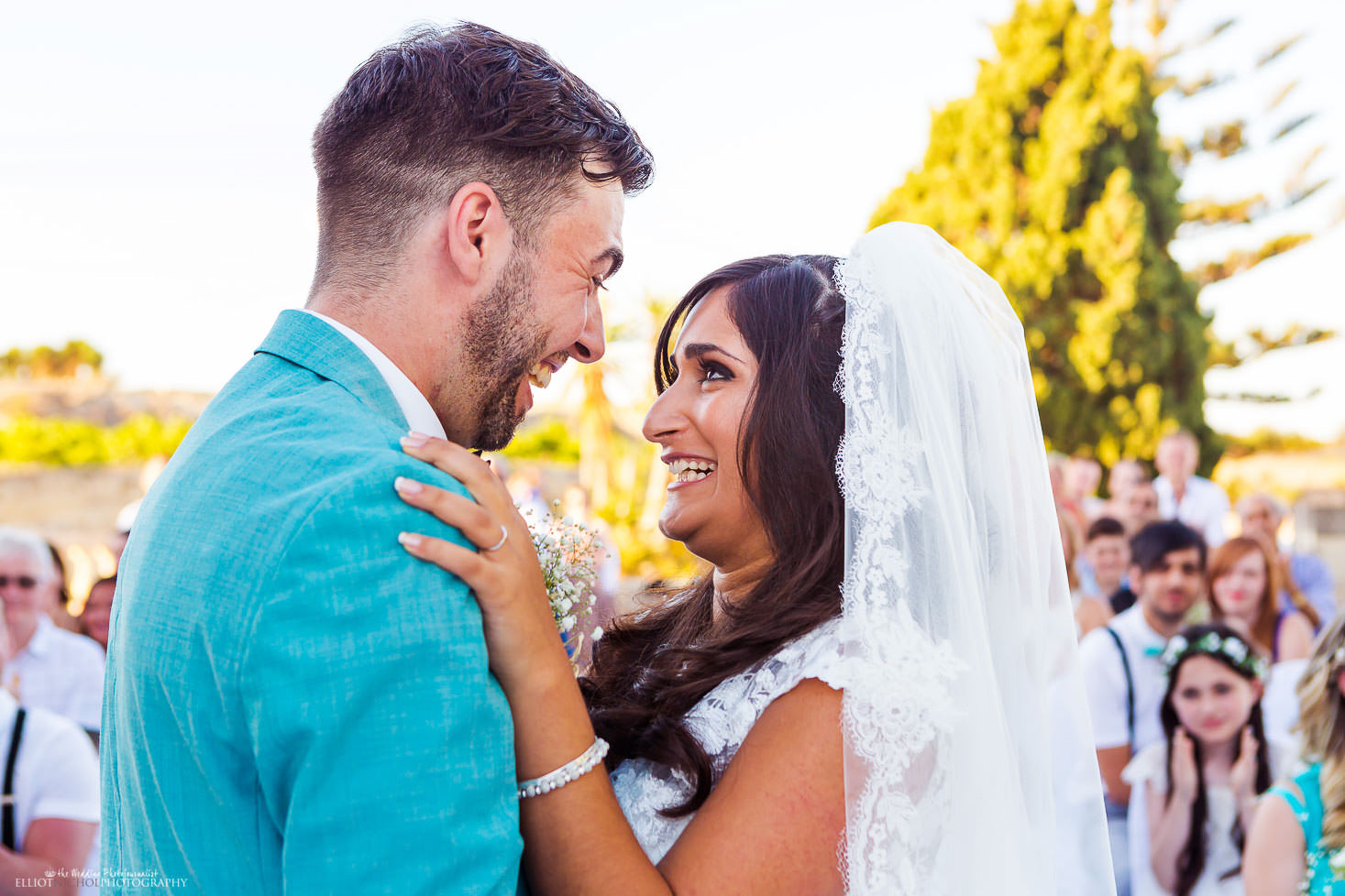 bride and groom are now husband and wife