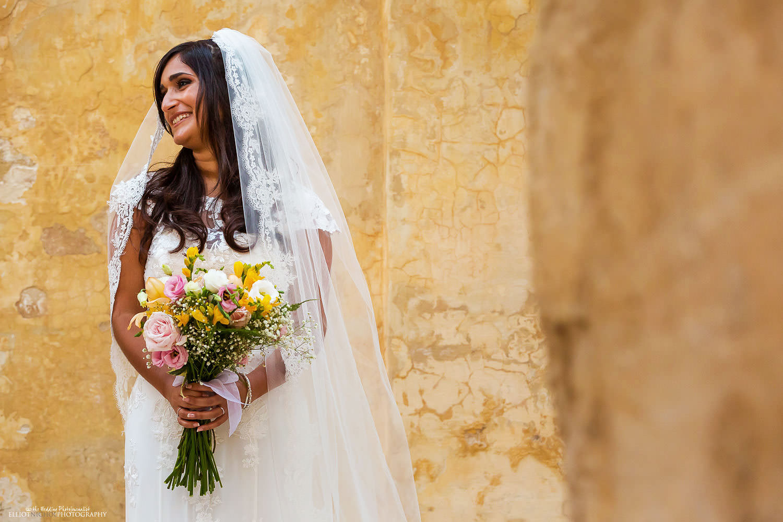 brides portrait in Mdina