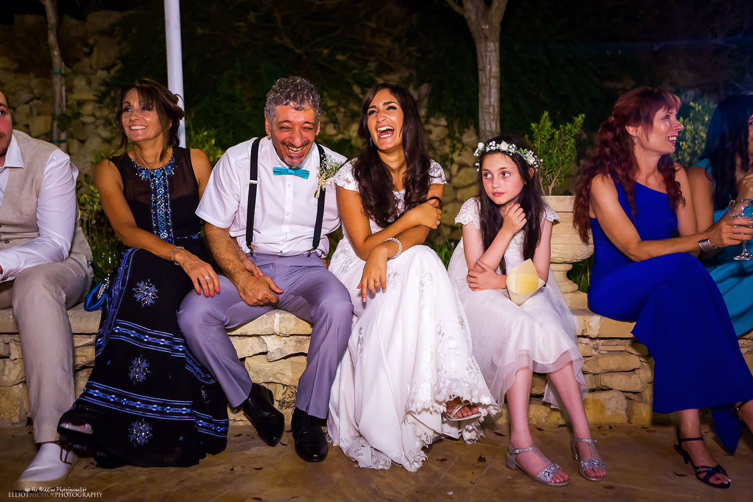 bride and her fathers reaction during the wedding reception at the Olive Gardens in Mdina
