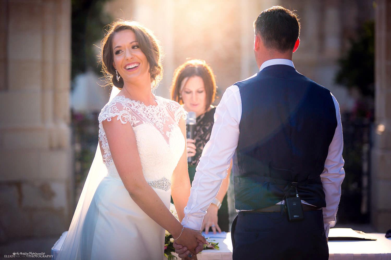 wedding photography at Villa Bologna, Malta.