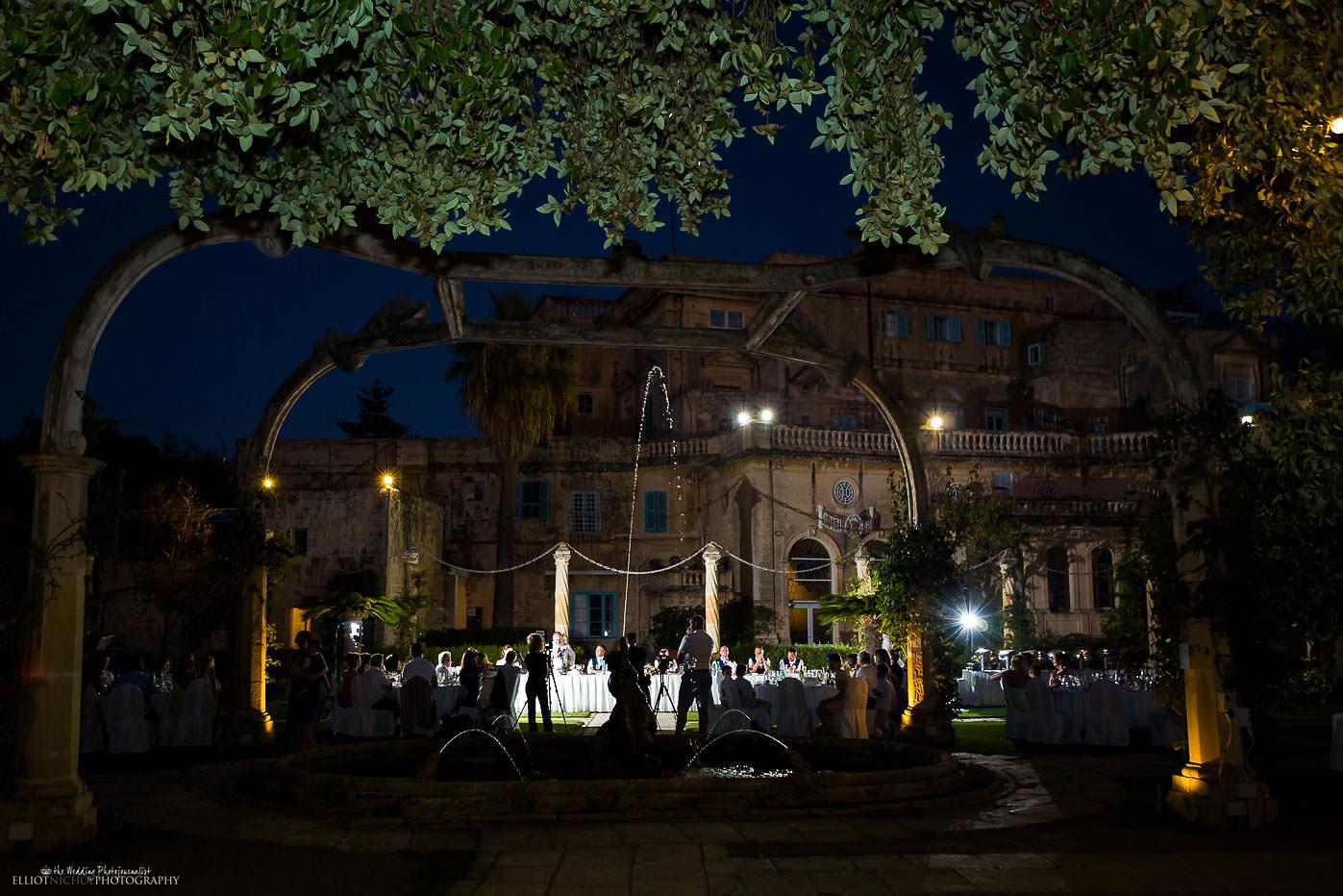 Villa Bologna garden wedding reception, Malta.