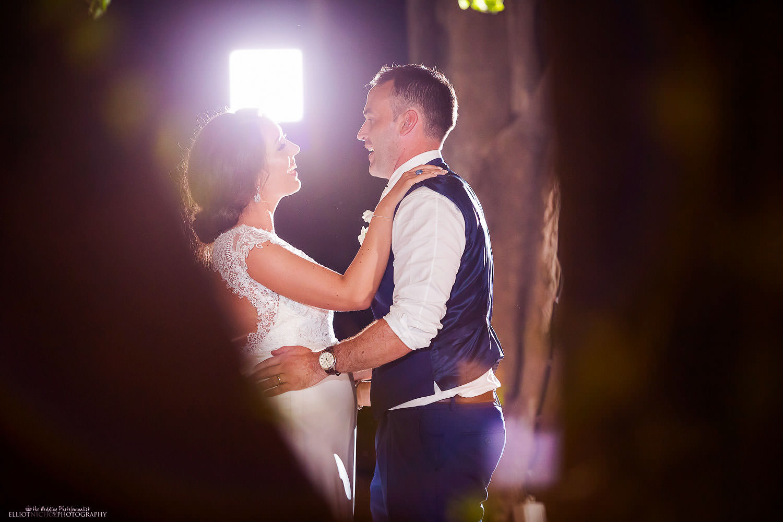First dance - wedding reception at Villa Bologna, Malta.