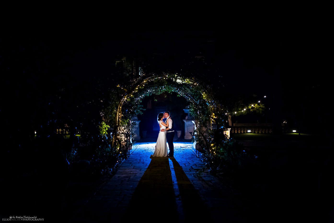 Villa Bologna night wedding photography in Malta.