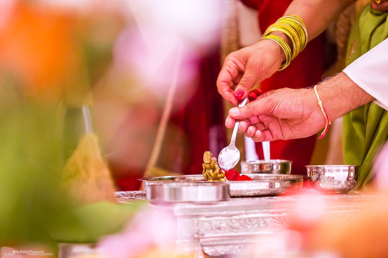 Detail from a Indian Hindu wedding ceremony. Photo by Newcastle Upon Tyne based wedding photojournalist Elliot Nichol.