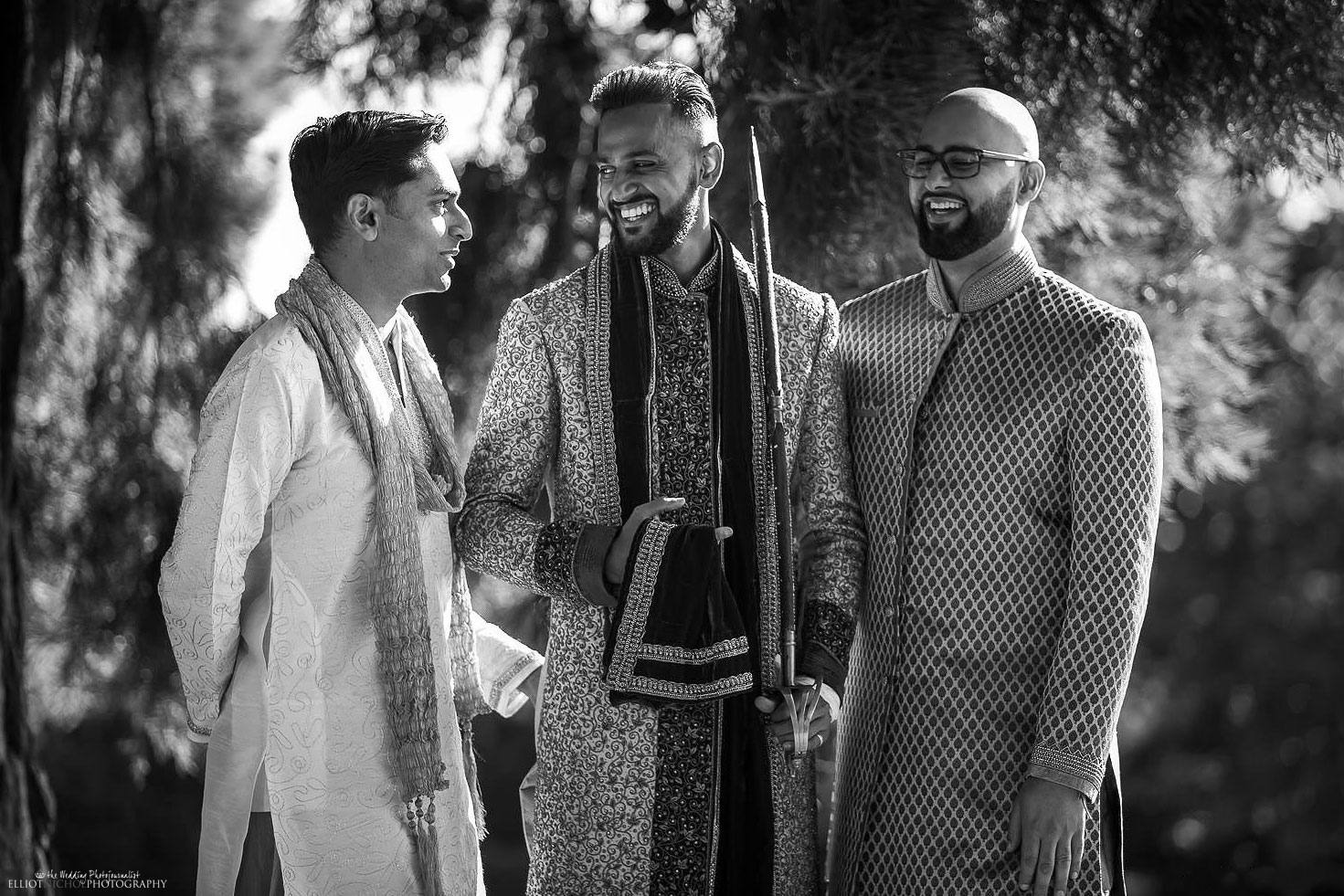 Indian Groom with his best friends before going to his Hindu wedding. Photo by North East based wedding photographer Elliot Nichol.