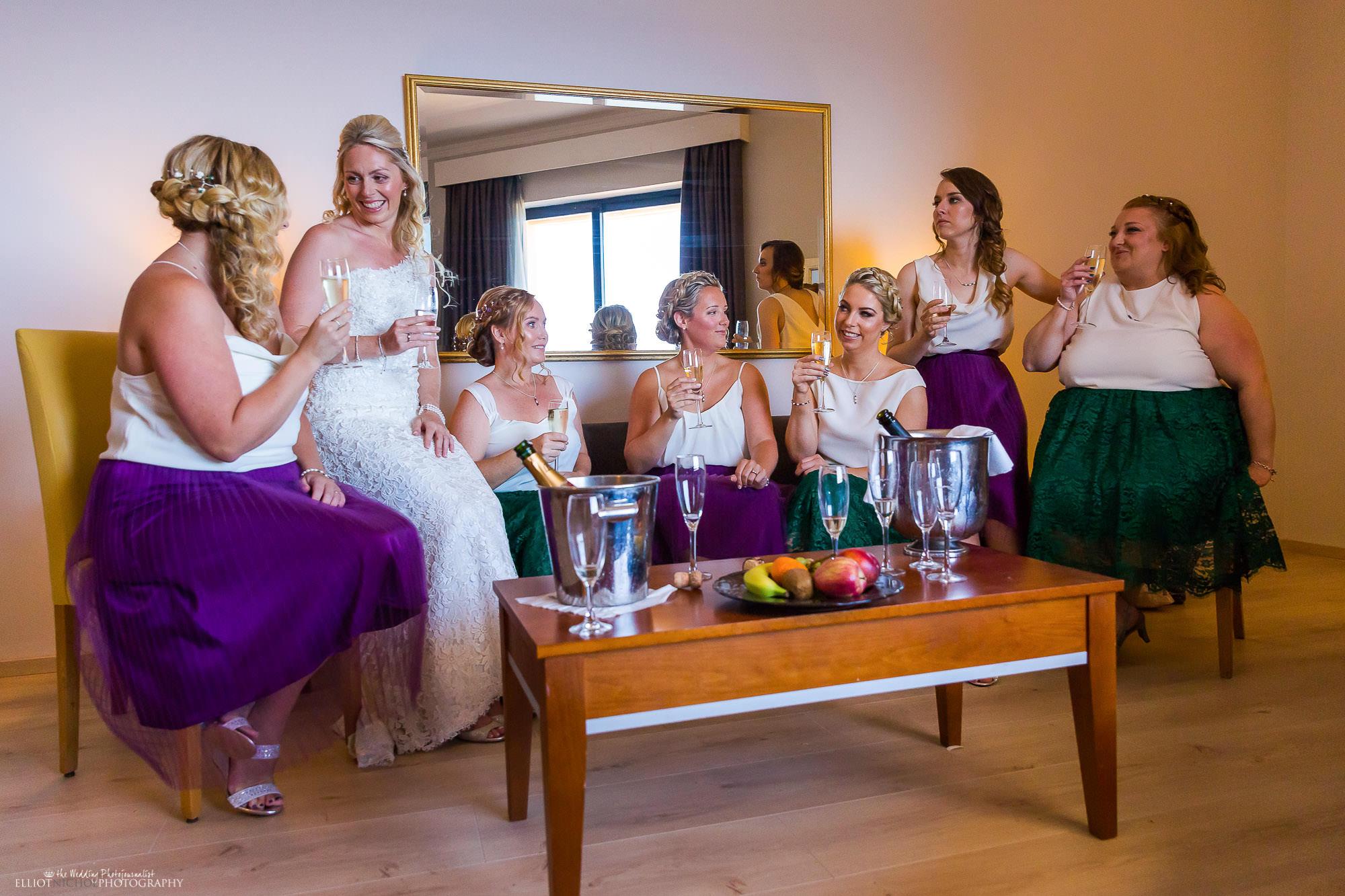 bride-bridesmaids-champagne-wedding-photography-photographer-weddings-UK