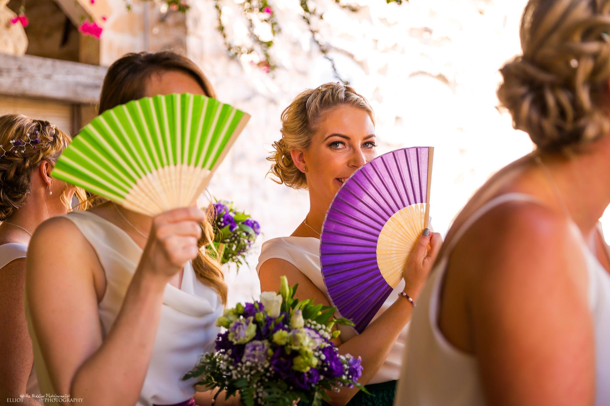 bridesmaid-fan-destination-wedding-fun-ceremony-photography-Malta-destination-weddings