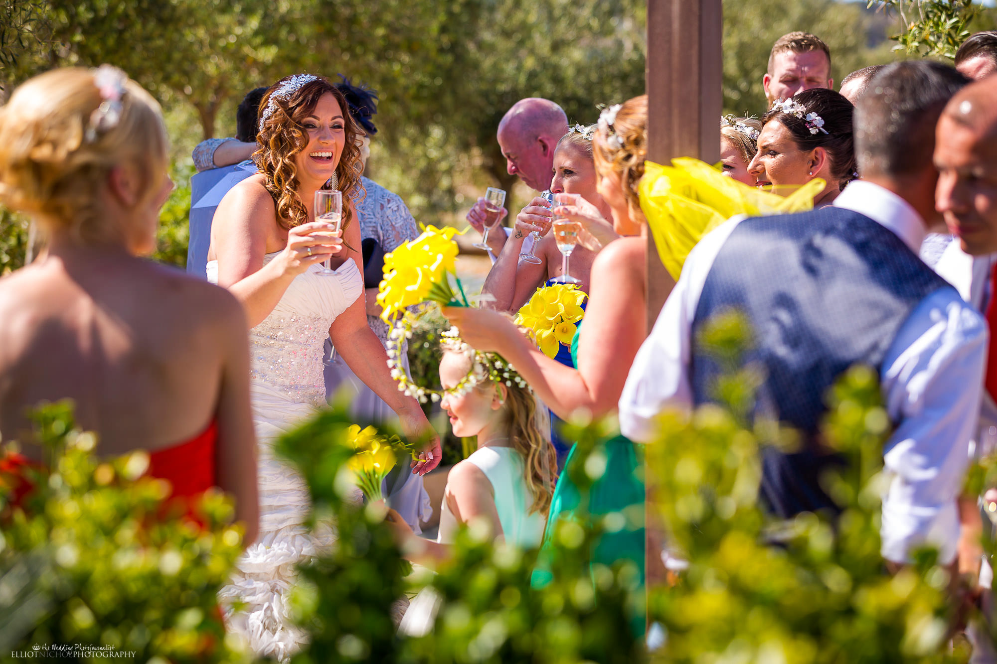 Bride-celebrating-wedding-guests-destination-wedding-Malta